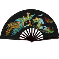 Colorful Dragon Kung Fu Fighting Fan