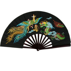 Colorful Dragon Kung Fu Fighting Fan