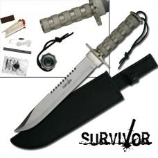 Double Reverse Serration Survival Knife