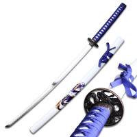 Sword with White Scabbard Dragon Graphic