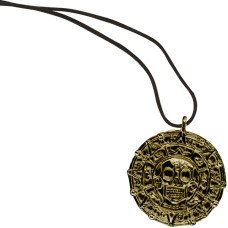 Pirate Ancient Looking Skull Coin Necklace
