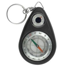 Compass Key Chain With Thermometer