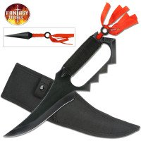 Fixed Blade Knife with Throwers