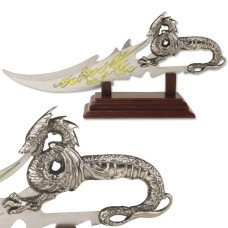 Fantasy Dragon Knife with Display Stand