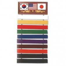 10 Belt Martial Art Display Rack