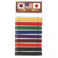 10 Belt Martial Art Display Rack