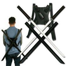 Ninja Sword Set with Shoulder Strap Carry Case