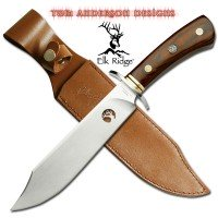 Elk Ridge Fixed Blade Knife with Leather Sheath