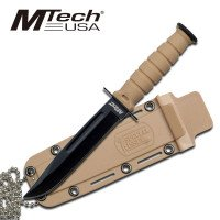 MTech USA  Blood Groove Blade with Sheath and Neck Chain