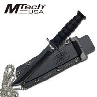 MTech USA Tanto Blade Knife with Sheath and Neck Chain
