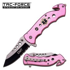 TAC-FORCE Emergency Medical Technician Knife in Pink