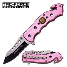 TAC-FORCE Fire Fighter Knife in Pink