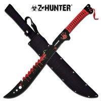 """Z Hunter - Bloodied Machete 25"""" Overall Length"""