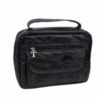 Genuine Leather Bible Cover with Carrying Strap