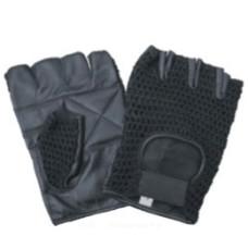 Black Mesh Fingerless Gloves