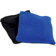 "Blue or Black Blanket by Trailworthy - 45"" X 60"" - Ultra Soft Fleece Throw For Home or Travel with Zip Storage Bag - Anti-Pilling"