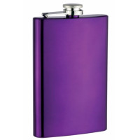 8oz Flask, Electric Purple