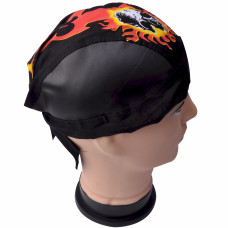 Skull and Flames Doo Rag