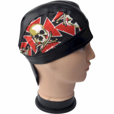 Skull and Maltese Cross Skull Cap