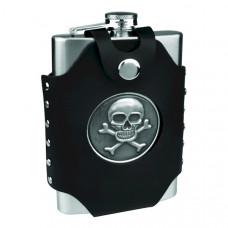8 oz Flask with Skull & Cross Bones