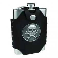8 oz Flask with Skull & Cross Bones