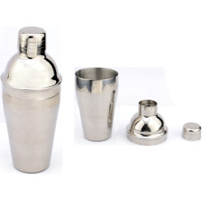 Cocktail Shaker - All Stainless Steel - Tumbler, Strainer and Cap - Holds 16 oz. - Great for Your Home Bar or as a Gift to Chill, Shake or Stir Mixed Drinks
