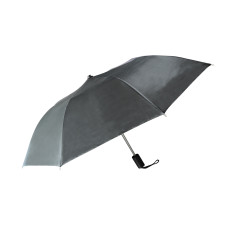 "Compact Umbrella - Black - Great for Travel - Lightweight - 21"" Across - 15.75"" Long - Push Button Auto Open - Polyester - Flat Top"