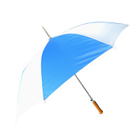 """Barton Outdoors Rain Umbrella - Blue and White - 48"""" Across - Rip-Resistant Polyester - Auto Open - Light Strong Metal Shaft and Ribs - Resin Handle - Perfect for 1 Person"""