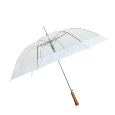 "Barton Outdoors Rain Umbrella - Clear - 48"" Across - Rip-Resistant  - Auto Open - Light Strong Metal Shaft and Ribs - Resin Handle"