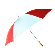 "Barton Outdoors Rain Umbrella - Red and White - 48"" Across - Rip-Resistant Polyester - Auto Open - Light Strong Metal Shaft and Ribs - Resin Handle - Perfect for 1 Person"