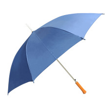 "Rain Umbrella - Royal Blue - 48"" Across - Rip-Resistant Polyester - Auto Open - Light Strong Metal Shaft and Ribs - Resin Handle - Perfect for 1 Person"