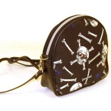 Fabric Ladies Cosmetic Bag with Skulls Print