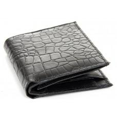 Men's Crocodile Embossed Leather Bifold