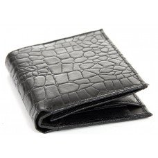 Men's Crocodile Embossed Leather Bifold