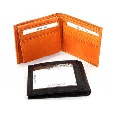 Double Bill Bi-Fold Leather Men's Wallet