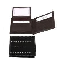 Men's Hand Stitched Leather Double Bill Bi-Fold