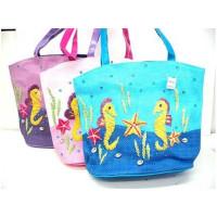 Sea Life Hand Crafted Straw Bag