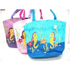 Sea Life Hand Crafted Straw Bag