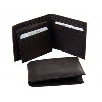 Men's Black Hand Crafted Leather Wallet