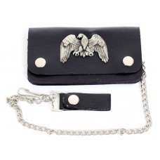 Biker Chain Wallet with Eagle Concho
