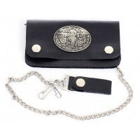 Biker Chain Wallet with Longhorn Concho