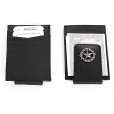 Leather Credit Card Holder with Money Clip