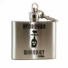 2oz Mini Flask with Keychain, Personalized Laser Engraving