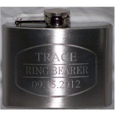 4oz Personalized Engraved Custom Hip Flask
