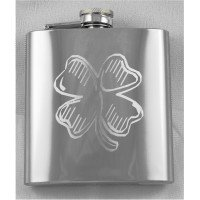 6oz Mirror Polish Custom Engraved Hip Flask