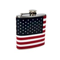 6oz American Flag Flask