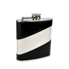 Faux Leather Hip Flask with Personalized Engraving