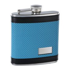 6oz Blue Flask with Black Trim