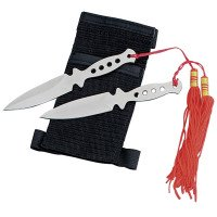 2 pc Throwing Knife Set with Forearm Sheath