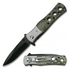 Jungle Camouflaged Folding Knife